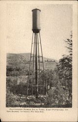 Chittenden Power Co.'s Tank