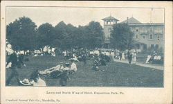 Lawn and North Wing of Hotel, Exposition Park