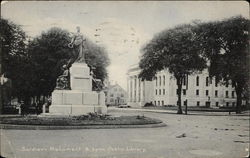 Soldiers Monument & Lynn Public Library
