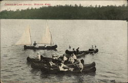 Canoes on Lake Innitou