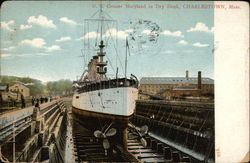 US Cruiser Maryland in Dry Dock