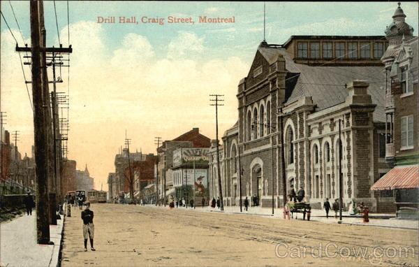 Drill Hall on Craig Street Montreal Canada Quebec