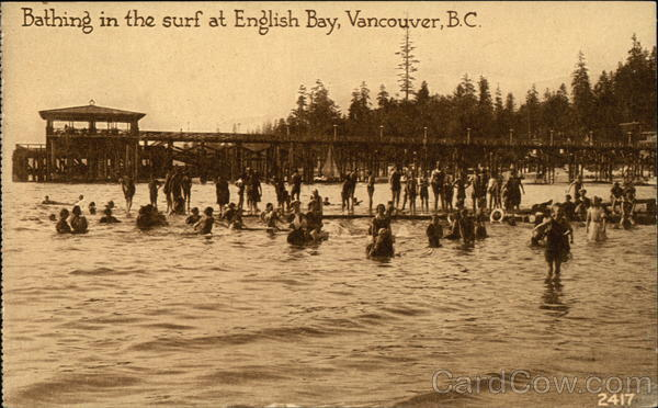 Bathing in the Surf at English Bay Vancouver Canada