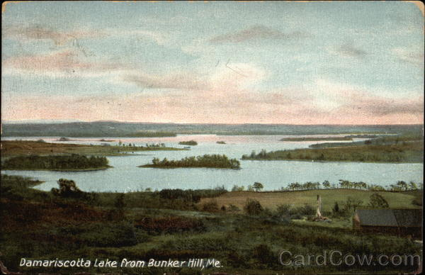 Damariscotta Lake from Bunker Hill Maine