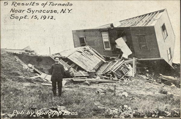 Results of Tornado, September 15,1912 Syracuse New York
