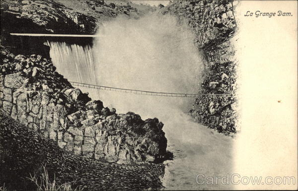 La Grange Dam Showing Walkway California
