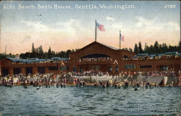 Alki Beach Bath House Seattle Washington