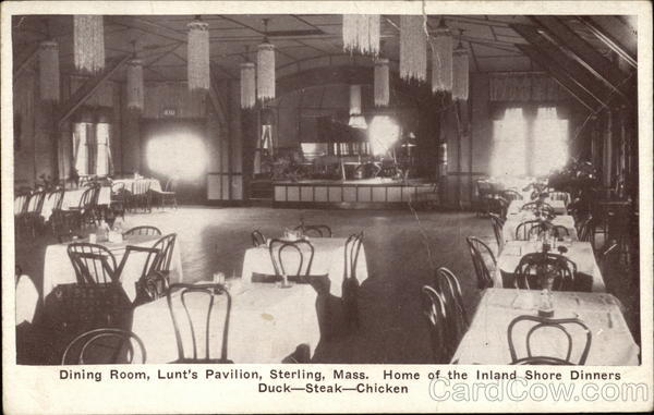 Dining Room, Lunt's Pavilion Sterling Massachusetts