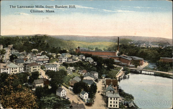 The Lancaster Mills from Burdett Hill Clinton Massachusetts