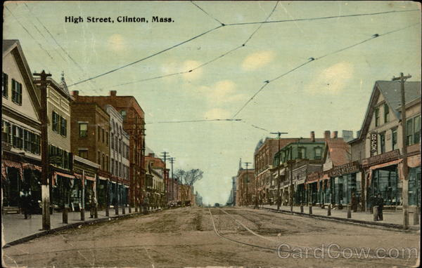 High Street View Clinton Massachusetts
