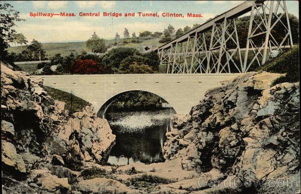 Spillway - Mass. Central Bridge and Tunnel Clinton Massachusetts