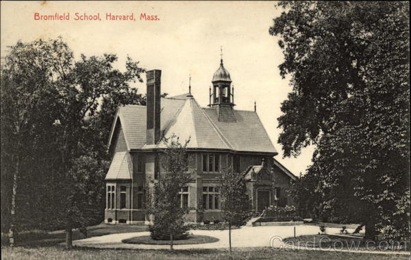 Bromfield School Antique Postcard