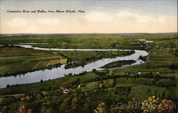 Connecticut River and Hadley from Mount Holyoke South Hadley Massachusetts
