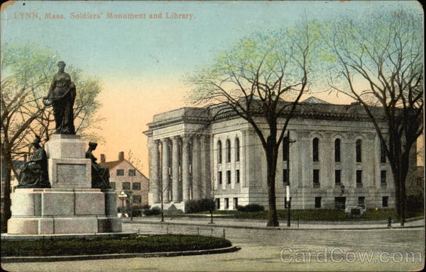 Soldiers' Monument and Library Lynn Massachusetts