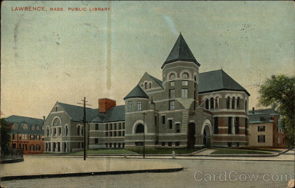 Public Library Building Lawrence Massachusetts