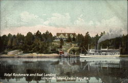 Hotel Rockmere and Boat Landing at Littlejohns Island