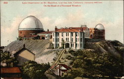 Lick Observatory on Mt. Hamilton, elevation 4443 feet - On Road of a Thousand Wonders