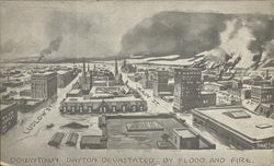 Downtown Dayton Devastated by Flood and Fire