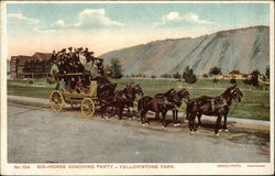 Six-Horse Coaching Party at Yellowstone Park