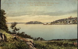 Evergreen Landing, Pumpkin Knob, and Long Island from Great Diamond Island