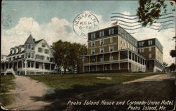 Peaks Island House and Coronado-Union Hotel Postcard