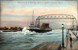 Steamer EJ Earling leaving Harbor