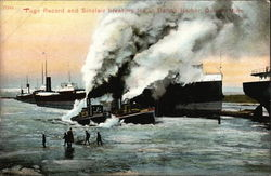 Tugs Record and Sinclair Breaking Ice in Duluth Harbor