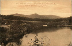 Trout Pond near Forest and Stream Club House with Haystack Mountain in Background