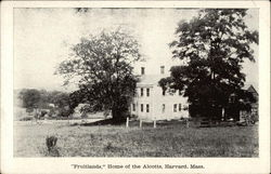 """Fruitlands"" Home of the Alcotts"