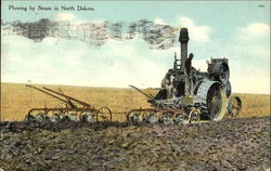 Plowing by Steam in North Dakota