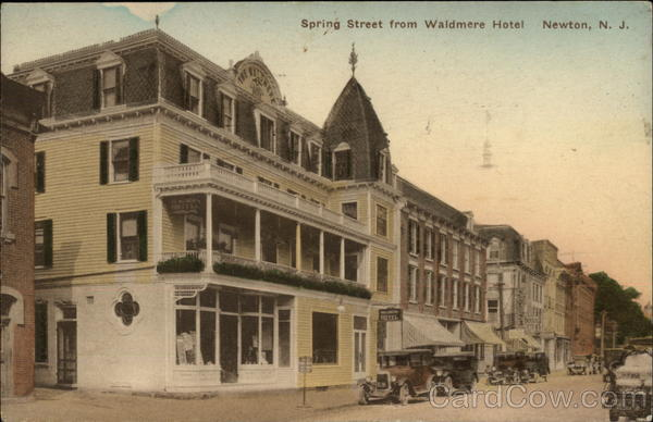 Spring Street from Waldmere Hotel Newton New Jersey