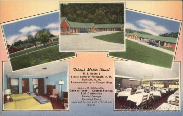 Tobey's Motor Court Plymouth New Hampshire
