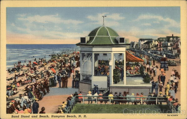 Band Stand and Beach Hampton Beach New Hampshire