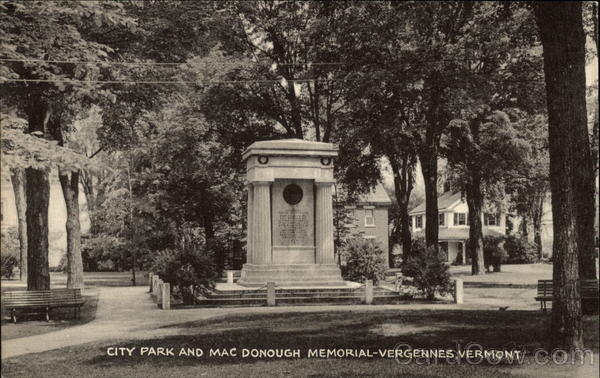 City Park and Mac Donough Memorial Vergennes Vermont