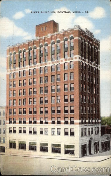 Riker Building Pontiac Michigan