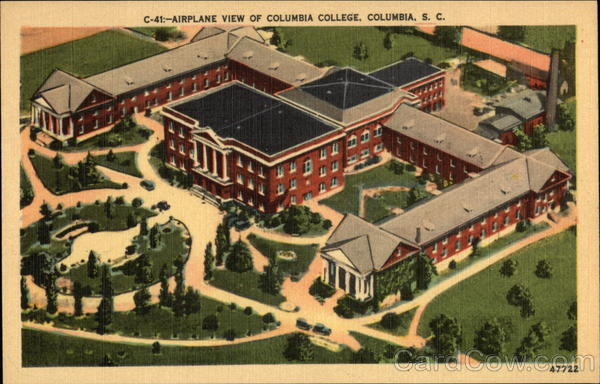Airplane View of Columbia College South Carolina