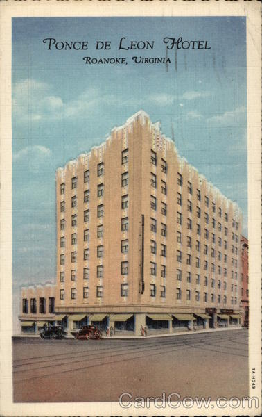 Ponce de Leon Hotel Roanoke Virginia