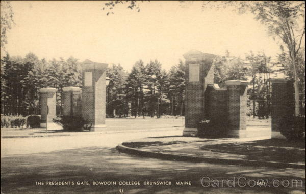 The President's Gate at Bowdoin College Brunswick Maine