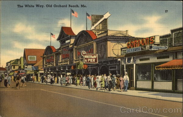 The white Way Old Orchard Beach Maine