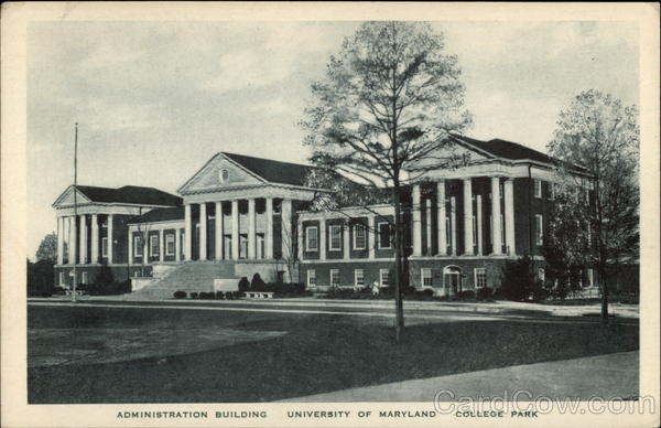 Administration Building at the University of Maryland College Park