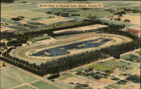 Aerial View of Hialeah Park Miami Florida
