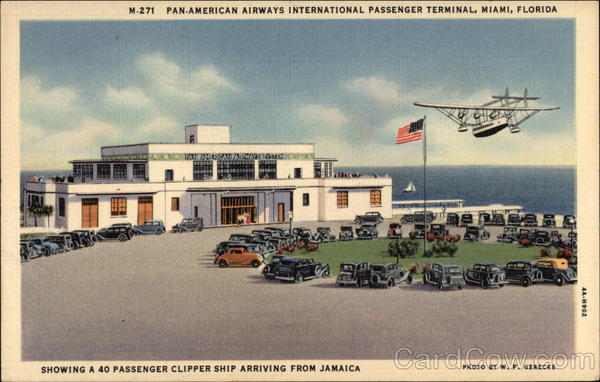 Pan-American Airways International Passenger Terminal Miami Florida