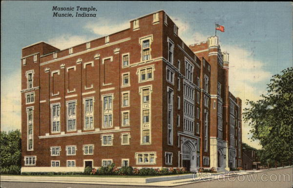 Masonic Temple Muncie Indiana Freemasonry