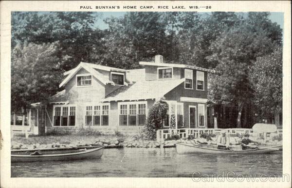 Paul Bunyan's Home Camp Rice Lake Wisconsin