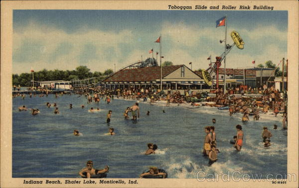 Toboggan Slide and Roller Rink Building, Indiana Beach, Shafer Lake Monticello