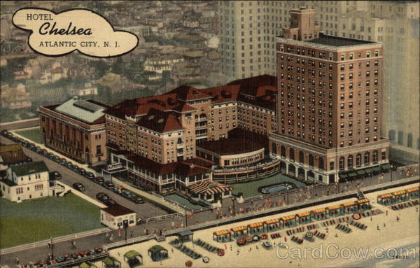 Aerial View of Hotel Chelsea Atlantic City New Jersey