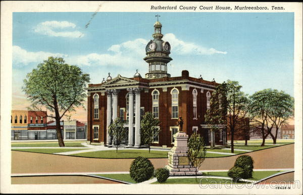 Rutherford County Court House Murtreesboro Tennessee