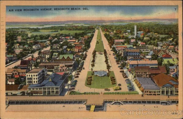 Air View of Rehoboth Avenue Rehoboth Beach Delaware