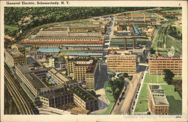 Aerial View of General Electric Plant Schenectady New York