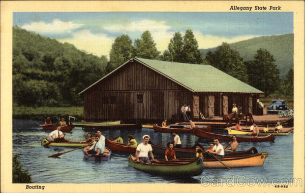 Boating on the Lake at Allegany State Park Salamanca New York